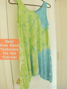 wash new top with a little detergent.  do not dry.  lay out on a plastic sheet & squeeze bottle dye.  roll up in the plastic to preserve the colors.  rinse until water runs clear. wash again & dry.