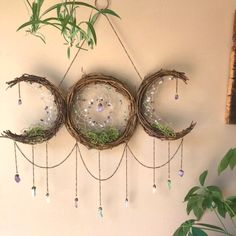 home decor themes Triple Goddess Moon Dreamcatcher Triple Goddess Symbol, Goddess Symbols, Celtic Mythology, Witch Symbols, Religious Symbols, Decoration Shabby, Altar Decorations, Moon Dreamcatcher, Moon Decor
