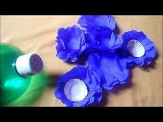 Tutorial de forminha de docinho feita de papel crepom - YouTube