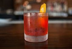 This Negroni variation by Eater LA's Bartender of the Year Beau du Bois will haunt your dreams. Not only does it switch out the one part gin for two parts of smokey mezcal, but the Campari is infused with pineapple and cinnamon, giving the classic cocktail extra complexity and unexpected layers.