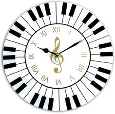 Musical piano clock.