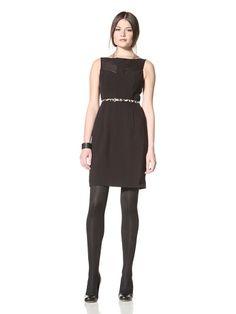 66% OFF Vince Camuto Dresses Women\'s Sleeveless Dress withBelt (Black)