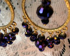 Purple Passion Chandelier Earrings by Lyndenidesigns on Etsy, $32.00