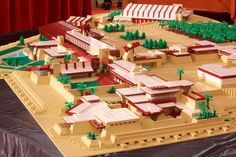 Come Ogle at the Largest Ever Frank Lloyd Wright Lego Model - Lego Watch - Curbed National