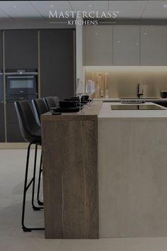 Luxury Kitchen Design, Kitchen Room Design, Contemporary Kitchen Design, Kitchen Cabinet Design, Luxury Kitchens, Interior Design Kitchen, Interior Modern, Modern Contemporary, Modern Decor