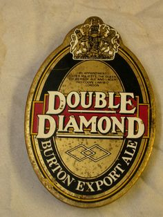 Vintage Double Diamond brass beer pump clip badge