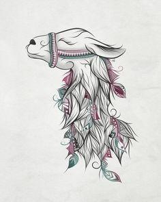 Llama Art Print by LouJah   Society6