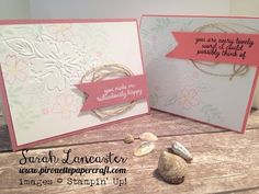 CAS Saturday | Second Generation Stamping with the Floral Affection TIEF Stampin' Up! - YouTube