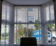 Another day another bay window supplied and fitted by us at DMB.   Would you like some more information about blinds or a quote then visit our website Roman Blinds, Curtains With Blinds, Fakro Blinds, Perfect Fit Blinds, Fitted Blinds, Windows Me, Roller Blinds, Bay Window, Venetian