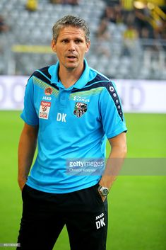 Nachrichtenfoto : Head coach Dietmar Kuehbauer of Wolfsberg looks. Europa League, Signal Iduna, Polo Shirt, T Shirt, That Look, Polo Ralph Lauren, Mens Tops, Fashion, Dortmund