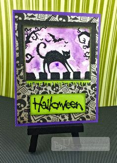 Hello Fellow Junkies!! Kathy, The Crafty Nurse here. It's almost time for the September Blog Hop tomorrow and in preparation for that, I've created a Halloween card using last years Sep…