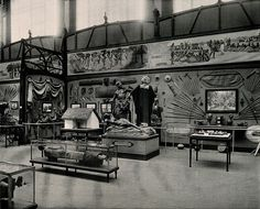 Musée du Congo, Tervuren, Belgium: one of five interior scenes showing African life. Prior 1910. Wellcome Library, London