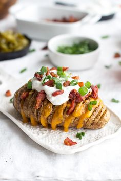 Loaded hassleback potatoes