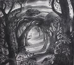 Midsummer etching hand printed by Foxnest on Etsy, $240.00