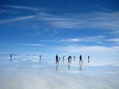 Salar de Uyuni - enormous salt flats, SW Bolivia