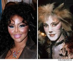 I have ALWAYS wanted to do this for Halloween!!!  Cats!  stage makeup