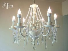 don't love this at all, but it did make me think: remake chandelier with all the beads I'm stocking up on!