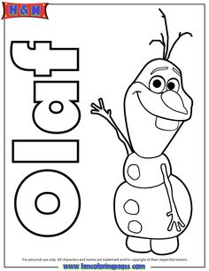 Snowman From Frozen Coloring Pages