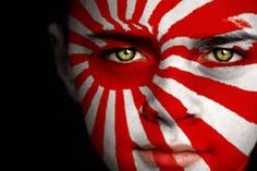 Imperial Japan Earth Flag, Rising Sun Flag, Greece Flag, Japanese Face, Imperial Japanese Navy, Flag Face, Flags Of The World, Drawing Reference, Body Painting