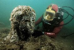Underwater archaeologist Franck Goddio and his team of divers were searching for shipwrecks when they stumbled upon some relics, which led to one of the greatest finds of the 21st century: the sunken Egyptian city of Thonis-Heracleion.  The grand 1,600-year-old city had been mentioned by 5th century BC historian Herodotus, who described it as an extraordinary city of 'great wealth.' Then the city vanished around 1,200 years ago.