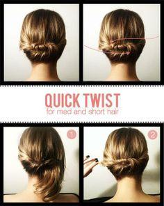 Facil Twist para recoger el cabello mediano