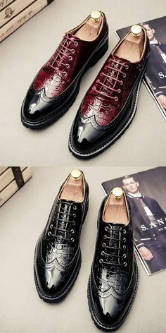 US $25.4 <Click to buy> New Lace Up Men Leather Shoe Wedding Wingtip Brogue