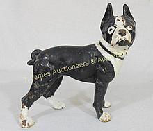Cast Iron Figural Boston Terrier Door Stop WWW.JJAMESAUCTIONS.COM