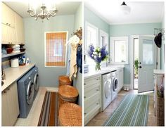 A practical combination of rooms are the laundry and mud room...the dirty clothes can go straight into the washer. Hooks and bins are a essential in both ...