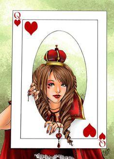 ++ Dame de Coeur ++ by utenaxchan on DeviantArt Tarot Meanings, Illustrations, Queen Of Hearts, Manga Anime, Deviantart, Artwork, Artist, Blog, Fictional Characters