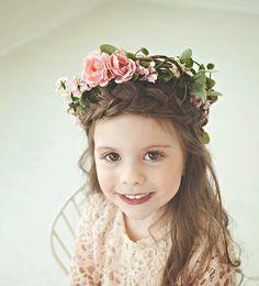 Flower Crown Flower Girl Bohemian Flower by NoraMadisonDesigns