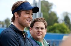 """""""Moneyball"""" director Bennett Miller credits Brad Pitt (seen here in a scene from the movie with Jonah Hill) for helping elevate the film to a legitimate Oscar contender. Brad Pitt Movies, Baseball Movies, Jena Malone, Jonah Hill, 2011 Movies, Toronto Film Festival, Inspirational Movies, Rosamund Pike, Brazil"""