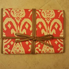 Stella and dot Jewelry case Red Ikat Jewelry Carrier Stella & Dot Bags Travel Bags