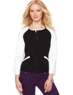 Raglan-Sleeve Varsity Jacket | Women's Jackets | THE LIMITED