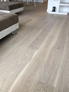 """JOB WE INSTALLED: European White Oak Prime French Cut 7"""" Wide & 2' to 10' Long Finished with Woca Oil White & White Paste by Floorcoverings of Marin County, Inc. 800 544 7721"""
