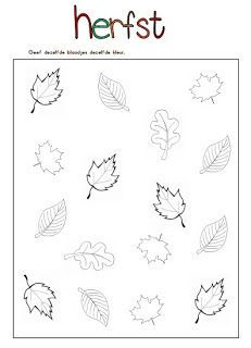 Juf Shanna: Thema herfst! - Werkbladen