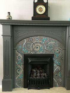 Glass Mosaic Fireplace Surround Mosaic Shower Ideas Pinterest Mosaic Fireplace And