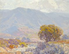 Hanson Puthuff (1875- 1972). Friendly Slopes. Oil on canvas. 15.75 x 20