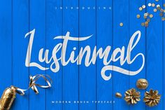 Lustinmal Script - Free Font   Font Bundles