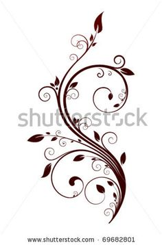 Find Floral Design Elements stock images in HD and millions of other royalty-free stock photos, illustrations and vectors in the Shutterstock collection. Arabesque, Motif Baroque, Drawing Stencils, Fall Floral Arrangements, Floral Drawing, Borders For Paper, Quilling Designs, Scroll Design, Free Motion Quilting