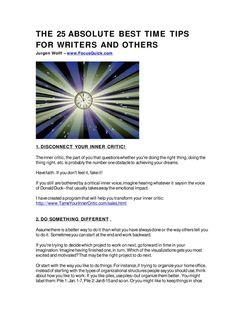 #ClippedOnIssuu from 25 Best Time Tips for Writers and Others