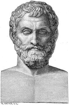 Tales de Mileto fue un filósofo, matemático, geómetra, físico y legislador griego. Vivió y murió en Mileto, polis griega de la costa jonia (hoy en Turquía). Fue el iniciador de la Escuela de Mileto a la que pertenecieron también Anaximandro (su discípulo) y Anaxímenes (discípulo del anterior).
