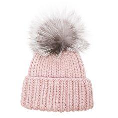 Eugenia Kim Rain Beanie ($270) ❤ liked on Polyvore featuring accessories, hats, fur pom pom beanie, beanie cap hat, beanie cap, fur hat and eugenia kim hats