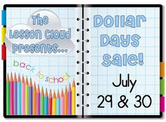Math Coach's Corner: Lesson Cloud Dollar Day Sales and Giveaway