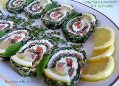 Kuchnia u Krysi  : Rolada z łososiem na szpinaku
