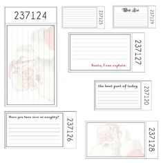 Christmas journaling cards downloads