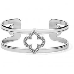 NWT Brighton SILVANA Silver Gold Floral Stretch Bracelet MSRP $78