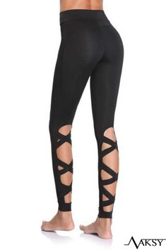 Elegance Girls Hollow-Out Leggings Cropped W// Lace Trim 3//4 Length Pants 11-14Y