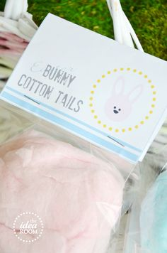 Easter basket name tags on free printable easter and free easter bunny tails treat idea negle Image collections