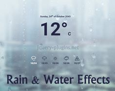 Rain & Water Effect Experiments #effect #WebGL #rainEffect #water #rain