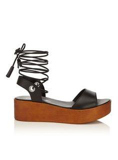 Miss Selfridge Marlena flatform wedge sandal   Debenhams